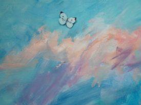 kist beschilderen met vlindertje uitvaart